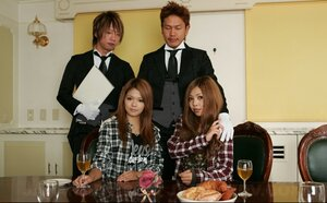 A duo Japanese teens in lingerie with ease seduce waiters in restaurant